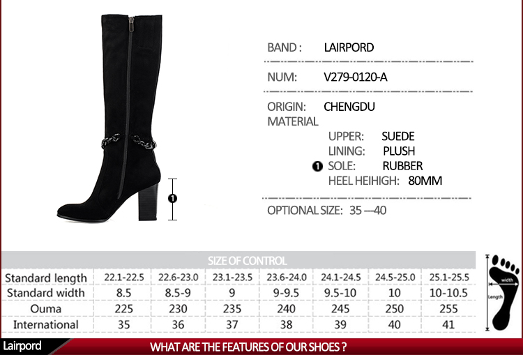hot sale popular chain fastener boots women