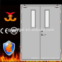 Fire resistance 2 leaf steel door with vision panel