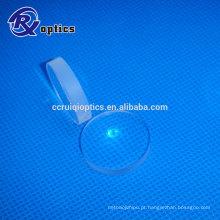 Lente cônica convexa Plano de vidro óptico de 25,4 mm