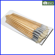 Sistema de cepillo de madera del artista de la manija 12PCS (582)