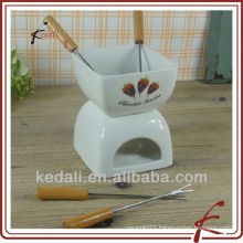 porcelain chocolate fondue sets