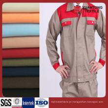 Tecido de tecido de sarja 100% algodão de cores diferentes