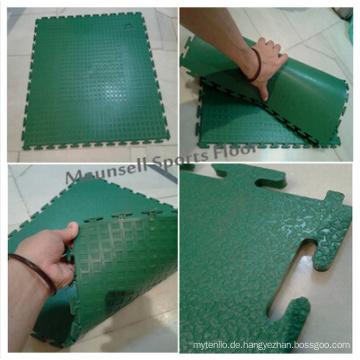 Hochwertige Indoor PVC Interlock Sportboden für Fußball / Futsal Court