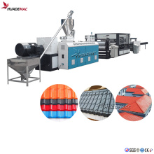 Plastic PVC+ PMMA/Asa Wave/Glaze Roof Tile Machine