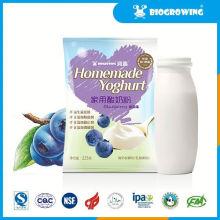Mirtilo, gosto, bifidobacterium, inteiro, leite, iogurte