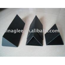 Caixa de papelão caneta triângulo