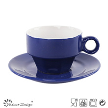 Classic Blue Glazing Cup and Saucer