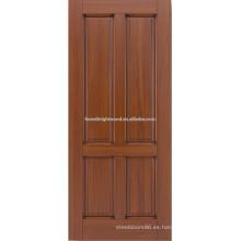 diseño de puerta de madera de caoba de 4 paneles