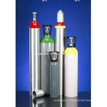 ISO7866 Стандартное высокое давление 10.2L Алюминиевые газовые баллоны O2