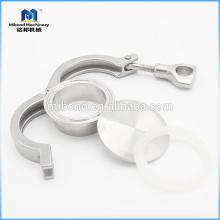 Unión de unión de tubo de abrazadera de triple abrazadera de acero inoxidable 304 / 316L