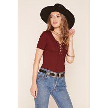 Fashion Eyelet Design Short Sleeve T Shirt