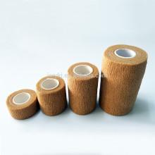 Différents types médicaux Bandage élastique en crêpe non tissé couleur marron