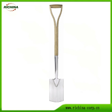Traditional English Stainless Garden Border Spade