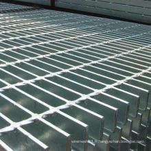Caillebotis en acier galvanisé plongé à chaud, marches d'escalier, grille de barre