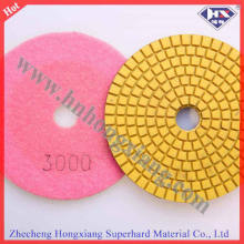 "Vente en usine de 4 ""100mm Diamond Flexible Wet Polishing Pads"