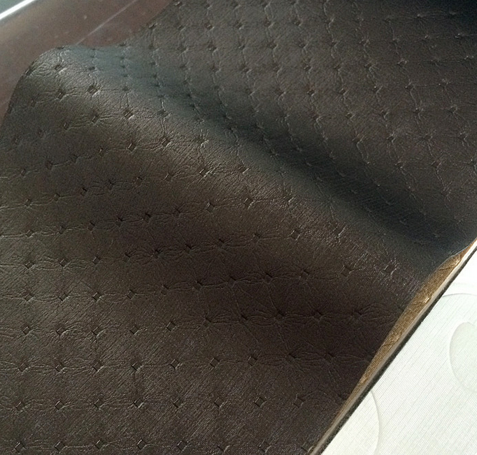Faux Leather and Fabric Sofa