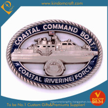 Custom 3D Hollow Coastal Rivering Force Souvenir Metal Coins (LN-080)