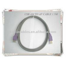 Alta qualidade Cinza 2.0 cabo de extensão USB padrão Am a Af 1.5m