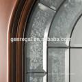 Exterior Art glass inserts entry wood Door