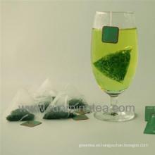 Nylon pirámide bolsas de té para el té verde