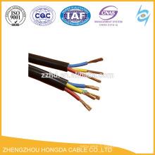 Câble marin flexible en caoutchouc de veste en caoutchouc isolé par caoutchouc