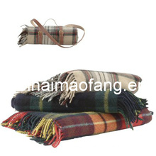 100%Wool Travel Picnic Blanket/Wool Travel Throw
