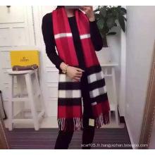Echarpe à rayures en fil de laine de cachemire