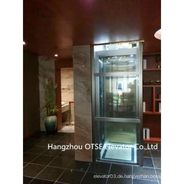 Glaswelle schöne stabile laufende kleine Haus Mini Aufzug Aufzug