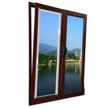 janelas de guilhotina de alumínio de cor de madeira de alta qualidade