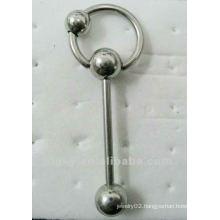New fashion wholesale body jewelry tongue bars/ring