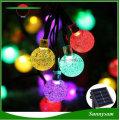 30LED Solar Hanging Decorative Balls Light Waterproof Outdoor Garden Tree Fairy Solar Light