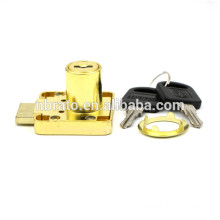 Low Price Optional Cylinder Zinc Alloy Golden Drawer Lock with Key