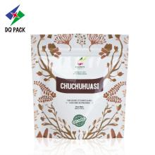Custom color stand up food pouch with zipper