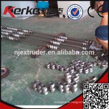 SKD11 Tornillo segmentado de extrusión de dos tornillos co-rotativos