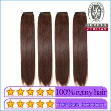 2020 Polular Style Hair Product Wholesale 18inch Brown Color Knot Thread Hair Extension Remy Hair Human Hair Virgin Hair