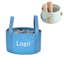 Popular Foldable Portable Foot Basin Travel Outdoor Foot Spa Wash Bath Oxford Basin For Bedroom Washing