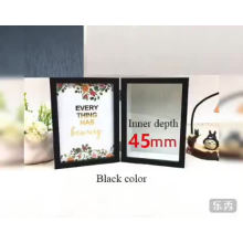 Plastic material and customized size folding photo frame