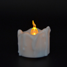 Tetes teh Flameless lilin baterai Tealight lilin