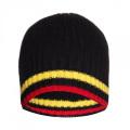 16FZBE02 men rib knit beanie strip cashmere beanie hat