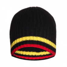16FZBE02 men rib knit beanie strip cashmere beanie hat