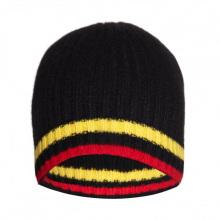 16FZBE02 homens costela malha beanie strip cashmere gorro chapéu
