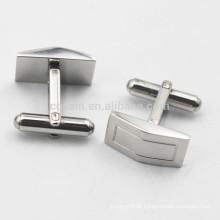 Forma de Arco Unisex 316L Stainless Steel Blank Cufflinks