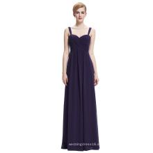 Starzz Sweetheart sin mangas de color morado oscuro vestido de noche de gasa larga ST000065-5