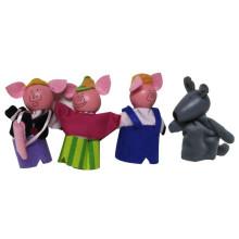 Brincar Bonecas Crianças Animal De Madeira Figura