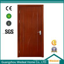 Puerta doble de madera del PVC del cuarto de baño para el proyecto