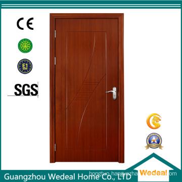 PVC Bathroom Wood Twin Door for Project