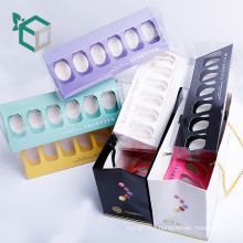 full color printing 6 pcs packing luxury macaron gift box for laduree