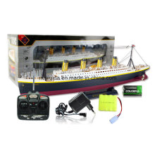 Regalos exquisitos Titanic RC velero de control remoto Yacht con luces