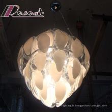 Lampe pendante de haute qualité de salon de verre de Fluorescen