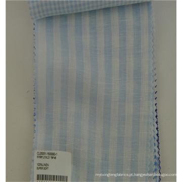 Roupa 100% de linho da tela da camisa para o verão